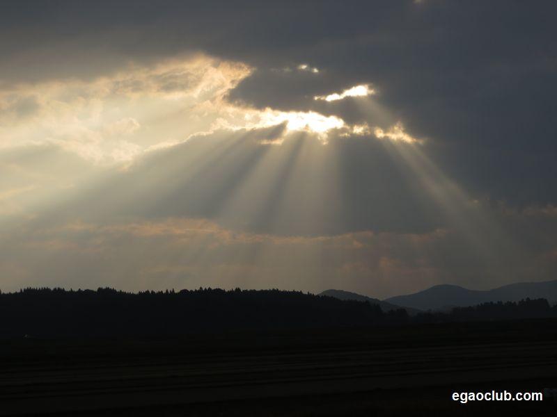 光芒さす風景